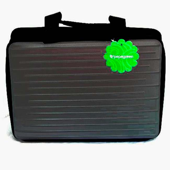"""NETBOOK BAGS 15,6"""" GREY HARD SIDE WITH POCKETS"""