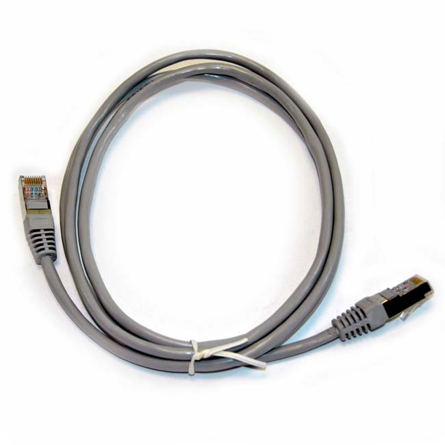 LATIGUILLO COLOR GRIS RJ45 Cat 5e FTP 0.25 METROS 24AWG