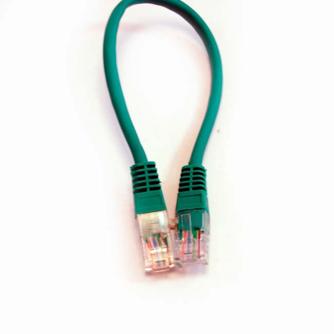 LATIGUILLO COLOR VERDE RJ45 Cat 5e UTP 0.25 METROS