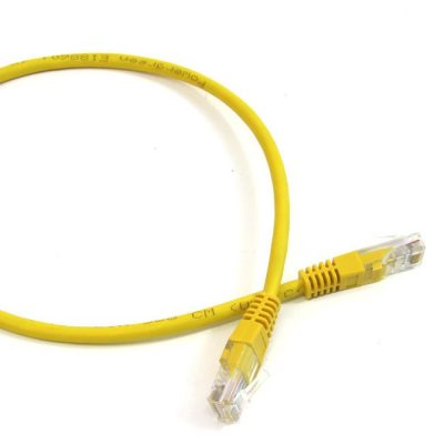 LATIGUILLO COLOR AMARILLO RJ45 Cat 5e UTP 1.5 METROS