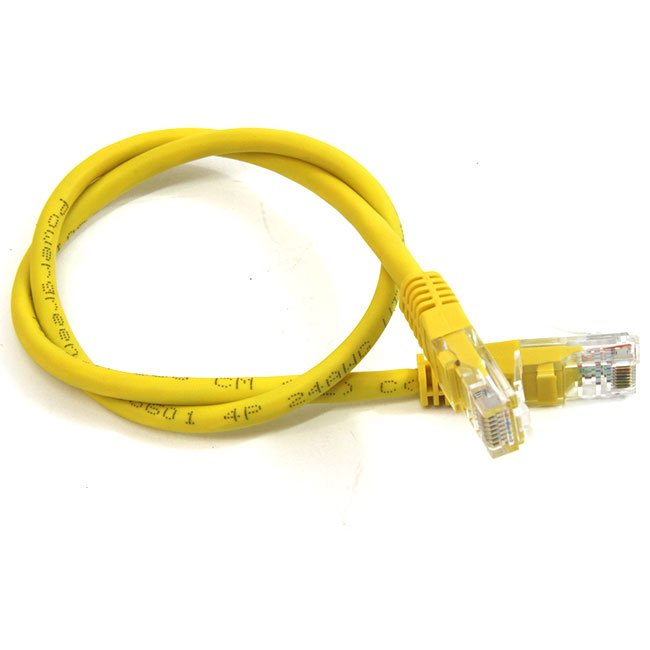 LATIGUILLO COLOR AMARILLO RJ45 Cat 5e UTP 1 METRO