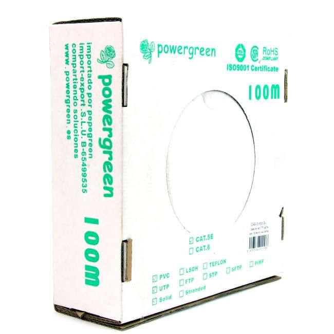 BOBINA DE CABLE Cat 5e UTP 100 METROS PVC CAJA 24AWG