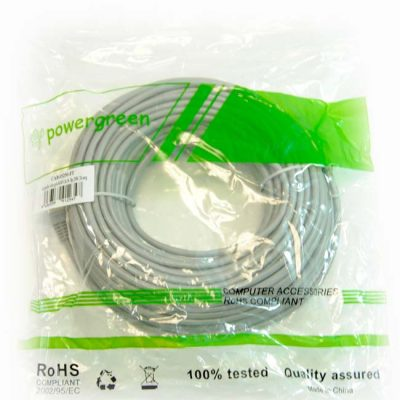 LATIGUILLO COLOR GRIS RJ45 Cat 5e FTP 25 METROS 24AWG