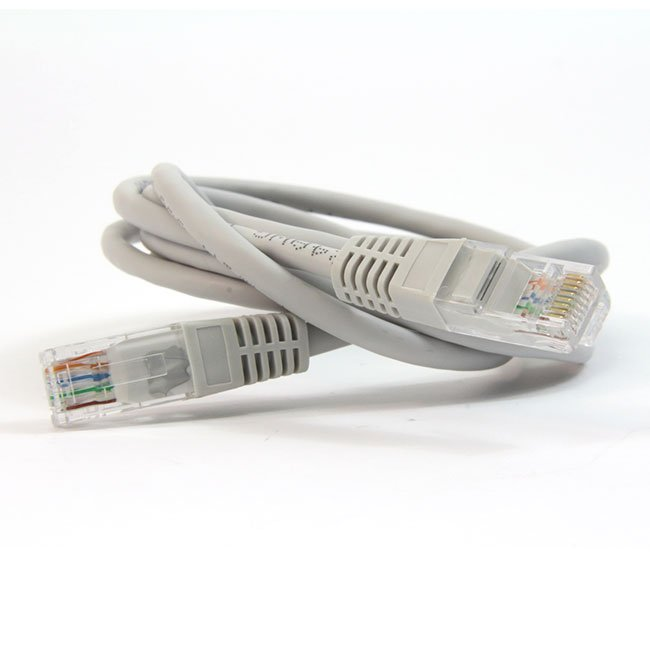 LATIGUILLO COLOR GRIS RJ45 Cat 6 UTP 0,5 METROS ECO