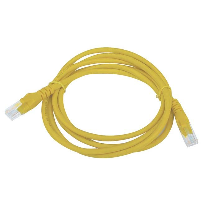 LATIGUILLO COLOR AMARILLO RJ45 Cat 6 FTP 0.5 METROS 24AWG