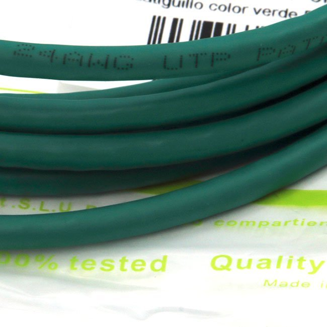 LATIGUILLO COLOR VERDE RJ45 Cat 6 UTP 3 METROS