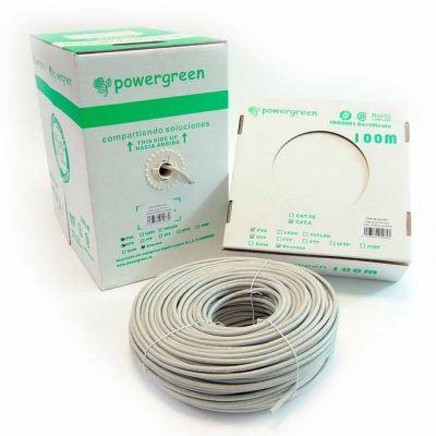 BOBINA DE CABLE Cat 6 UTP 305 METROS LSZH FLEXIBLE CAJA