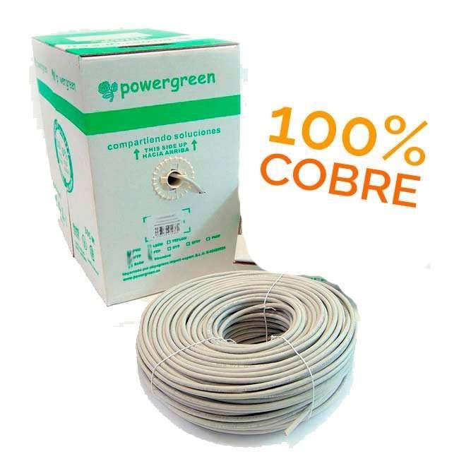 BOBINA DE CABLE Cat 6 FTP 305 METROS LSZH PVC COBRE 100% PASS TEST FLUKE 23 AWG