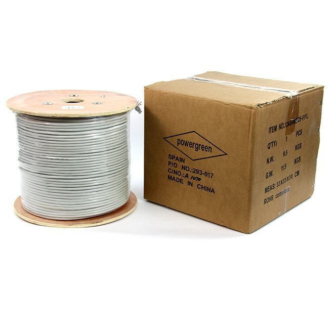 BOBINA DE CABLE Cat 6 FTP 305 METROS COLOR GRIS FLEXIBLE 24AWG