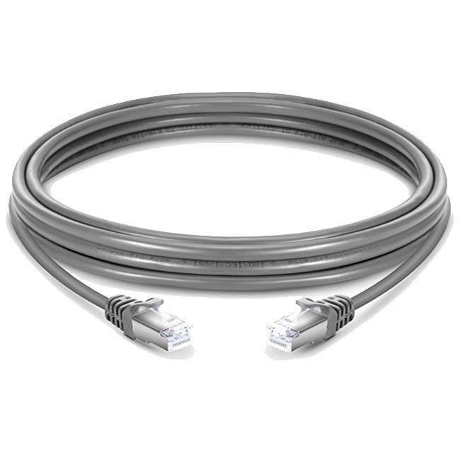 LATIGUILLO 100% COBRE COLOR GRIS RJ45 Cat 6 FTP 50 METROS 26AWG LSZH