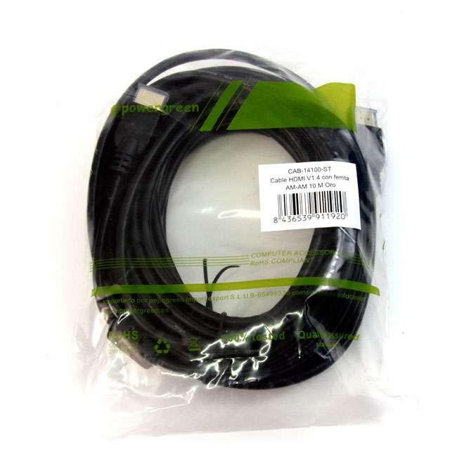 CABLE HDMI V1.4 CONECTOR FERRITA AM-AM ORO – 10 METROS