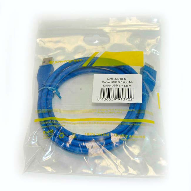 CABLE USB 3.0 ALARGADOR TIPO AM-MICRO USB/M – 1.8 METROS