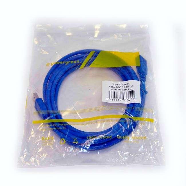 CABLE USB 3.0 ALARGADOR TIPO AM-MICRO USB/M - 3 METROS