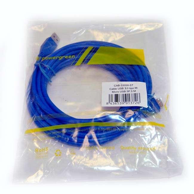 CABLE USB 3.0 ALARGADOR TIPO AM-MICRO USB/M – 5 METROS
