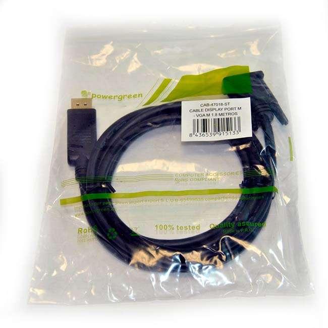 CABLE DISPLAY PORT M - VGA M - 1,8 METROS
