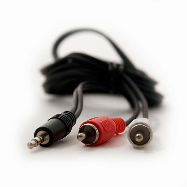 CABLE JACK 3.5 mm /M A 2 RCA /M 1.8 METROS