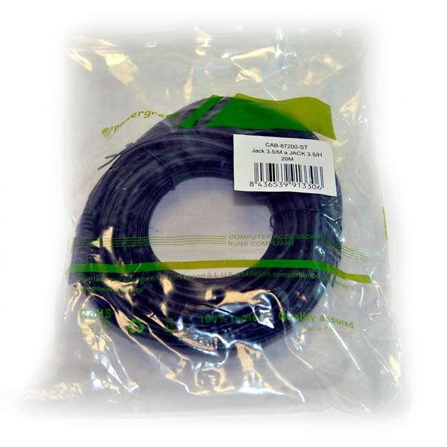 CABLE JACK 3.5 mm /M A JACK 3.5 mm/H 20 METROS