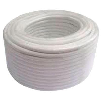 ROLLO DE CABLE DE ANTENA RG6 100M COLOR BLANCO CUBIERTA PVC ECO