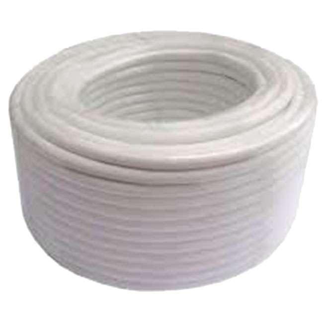 ROLLO DE CABLE DE ANTENA RG6 COBRE 100M COLOR BLANCO CUBIERTA PVC