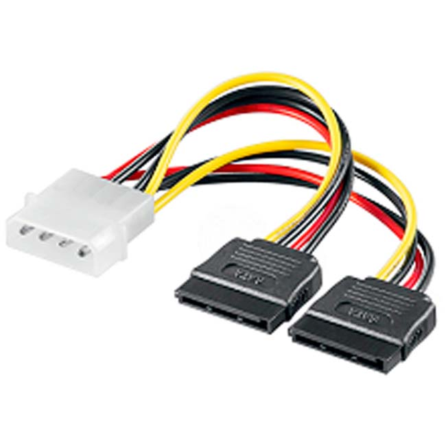 CABLE ELECTRICO 1 MOLEX 2SATA