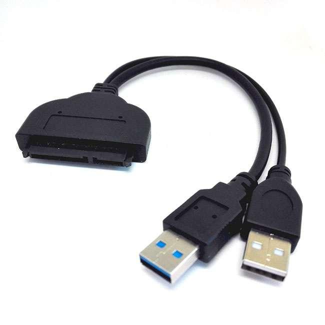 CABLE ADAPTADOR USB 3.0 A SATA PARA SSD/HDD