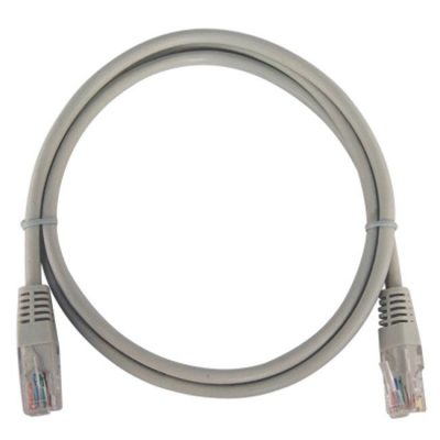 LATIGUILLO COLOR GRIS CAT 6A UTP LSZH 1 METRO 26 AWG COBRE 100%.