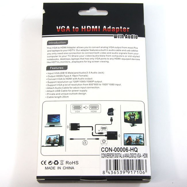 CONVERSOR ANALOGICO A DIGITAL VGA-HDMI