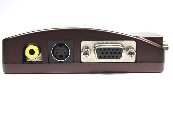CONVERSOR ANALOGICO VGA A 1X RCA VIDEO COMPUESTO Y SVHS