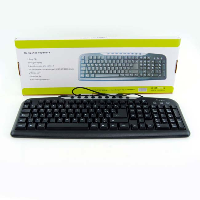 TECLADO CON CABLE MULTIMEDIA