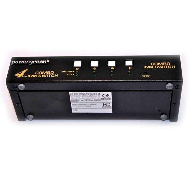 4 PUERTOS USB&PS2 COMBO KVM SWITCH (CON CABLES )