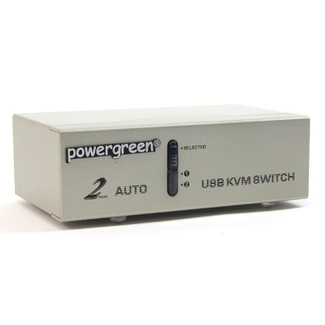 2 PUERTOS USB KVM SWITCH (CON CABLES ) CAJA METAL