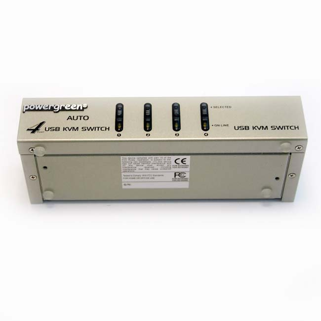 4 PUERTOS USB KVM SWITCH (CON CABLES ) CAJA METAL