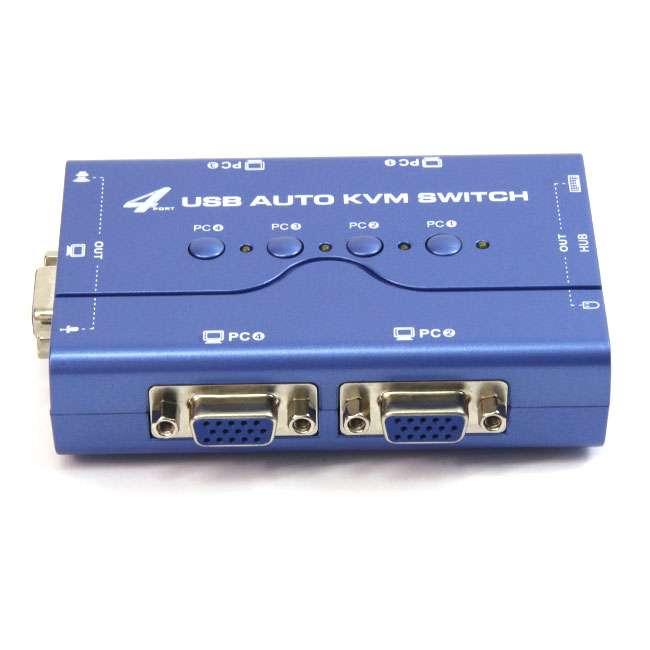 4 PUERTOS USB KVM SWITCH (CON CABLES )