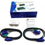 2 PUERTOS PS2 KVM SWITCH (CON CABLES )