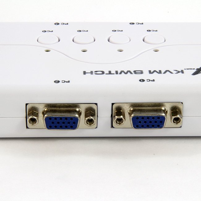4 PUERTOS PS2 KVM SWITCH (CON CABLES )