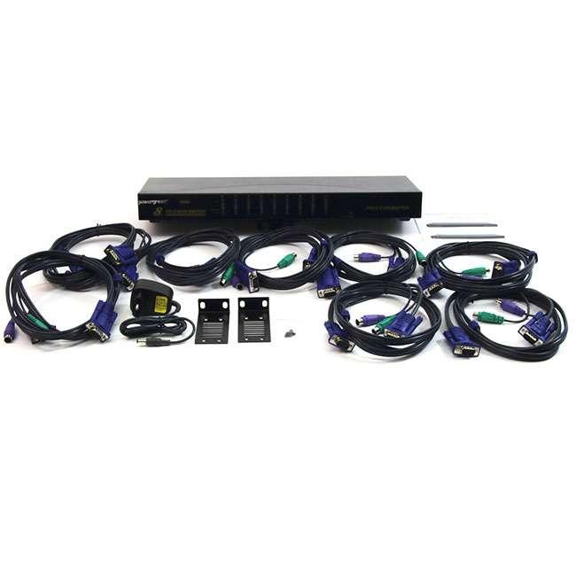 8 PUERTOS PS2 COMBO KVM SWITCH (CON CABLES )