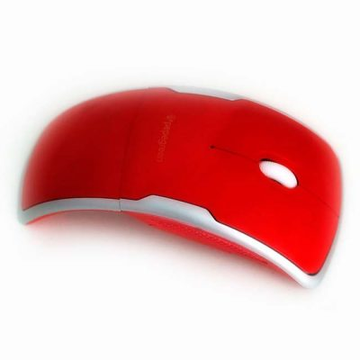 RATON WIRELESS PLEGABLE COLOR ROJO