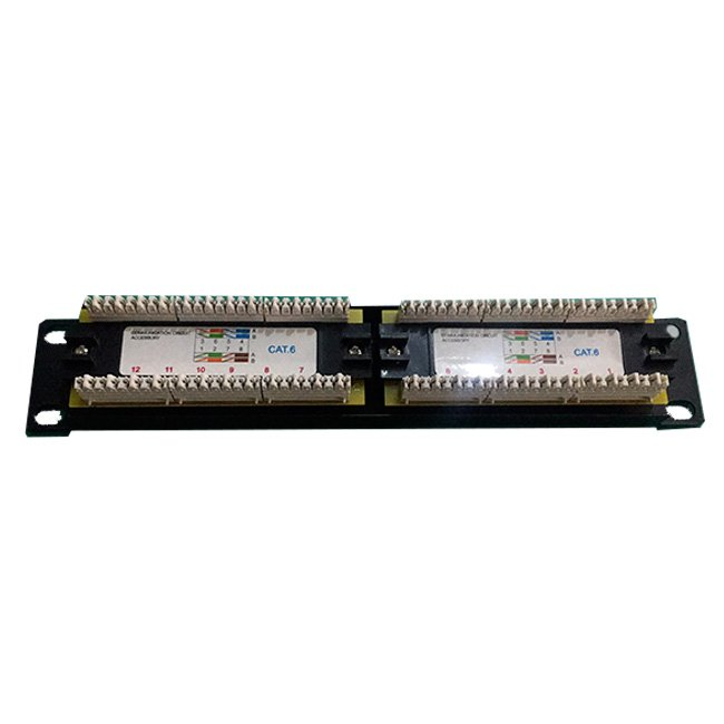 "PATCH PANEL 10"" 12 PUERTOS Cat 6 UTP"