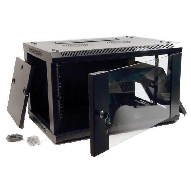 powergreen RAC-12645-HQ Armario Rack 12U 60X45 con Termostato 2 Ventiladores 1 Bandeja