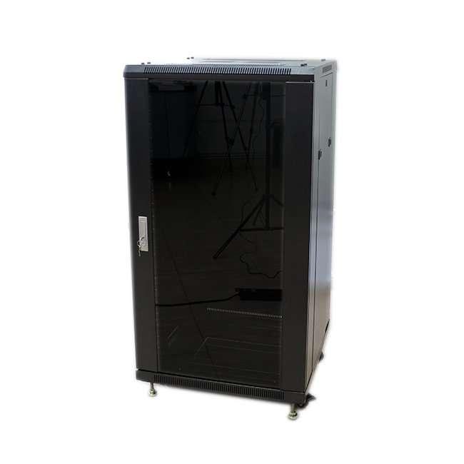 Armario rack 22u 60x100 con puerta de cristal y puerta - Armarios con puertas de cristal ...