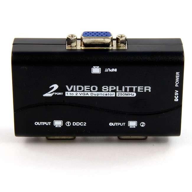 SPLITTER VGA 2 SALIDAS (250MHZ) ALIMENTACIÓN POR USB