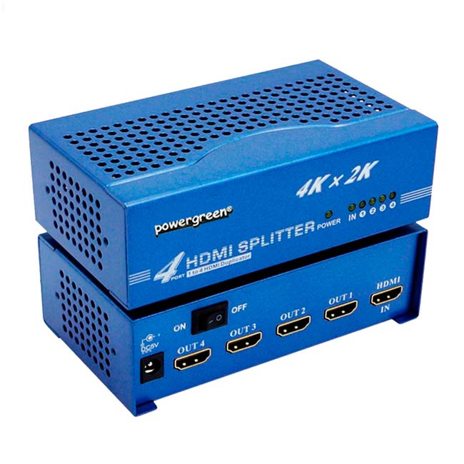 SPLITTER HDMI 1 INPUT - 4 OUTPUT (1.4V) 4K, 2K, 3D
