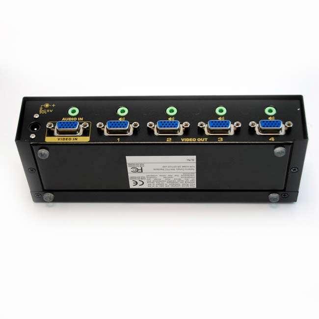 SPLITTER VGA + AUDIO 4 SALIDAS (450MHZ)