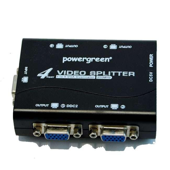 SPLITTER VGA 4 SALIDAS (250MHZ) ALIMENTACIÓN POR USB
