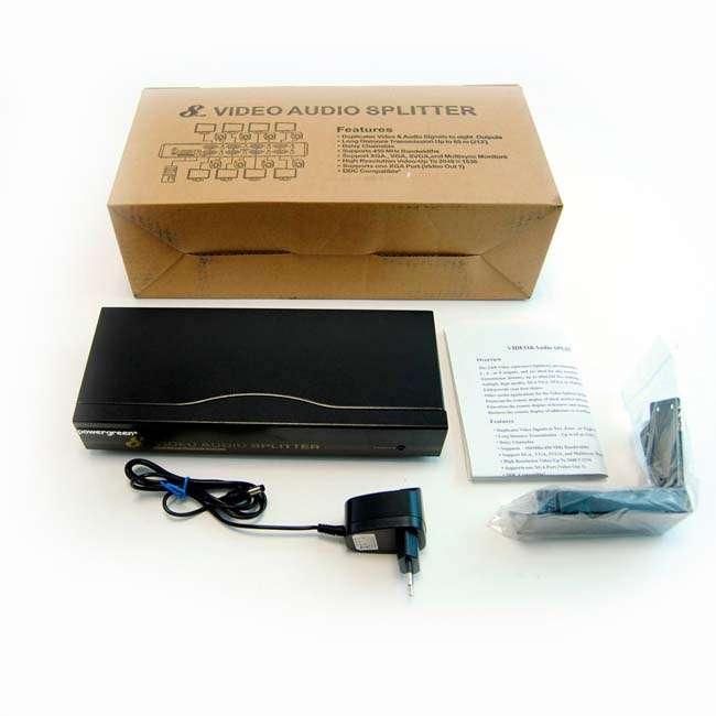 SPLITTER VGA + AUDIO 8 SALIDAS (450MHZ)