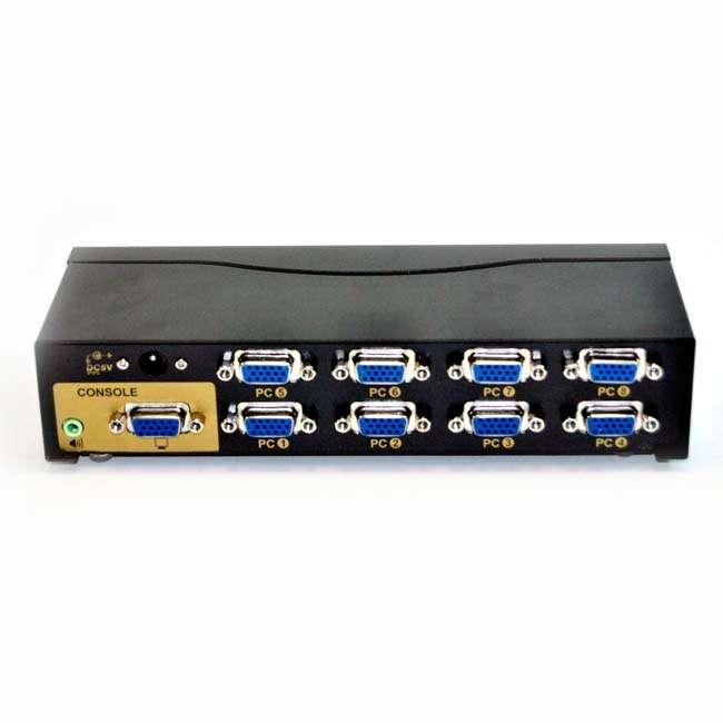SWITCH 8 ENTRADAS - 1 SALIDA VGA + AUDIO (CON CABLES)